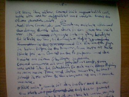 Manuskriptseite in Tinte