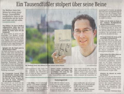 Interview Sächsische Zeitung - Der Tausendfüßler - Jens Böhme