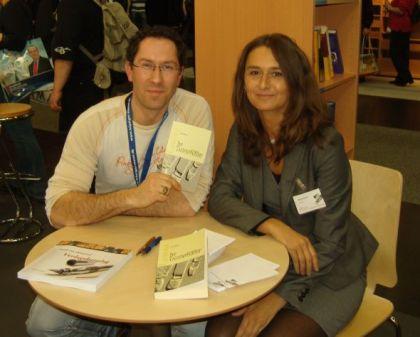 Jens Böhme und Frau Lenz vom Verlag