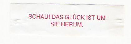 Glückskeks-Spruch