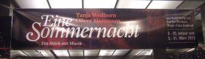 Eine Sommernacht - Tanja Wedhorn und Oliver Mommsen in der Komödie am Kurfürstendamm