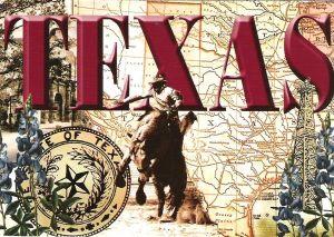 Vorderseite Postkarte aus Texas USA