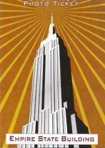 Vorderseite Eintrittskarte Empire State Building New York USA