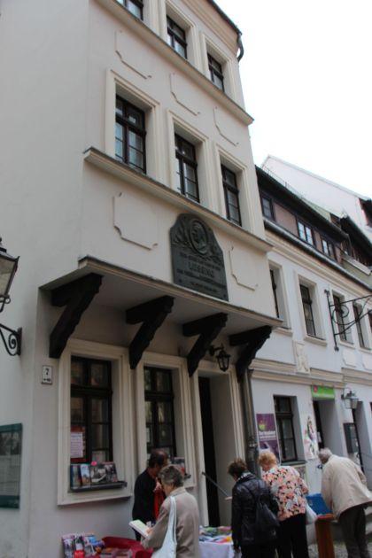 Nikolaiviertel Berlin Seitenansicht vom Lessinghaus