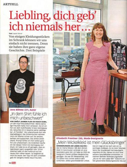 Jens Böhme Zeitschrift Tina Fasion Hemingway T-Shirt