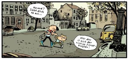 Berlin-Mitte und der Pionierknoten Szene aus Kinderland von mawil